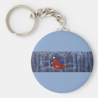In The Woods With Animal Spirits. Key Chain