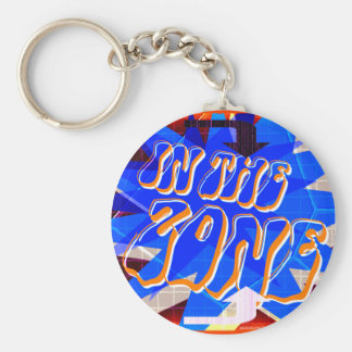In The Zone (dark version) Basic Round Button Keychain