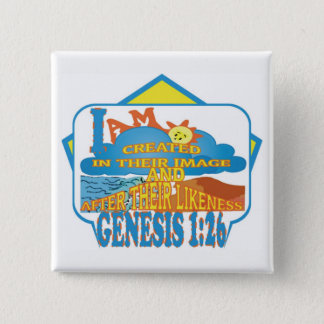 IN THEIR IMAGE© ButtonENG 2 Inch Square Button