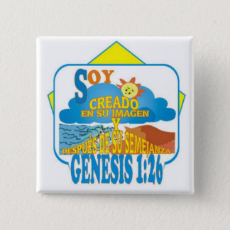 IN THEIR IMAGE© ButtonEsp 2 Inch Square Button