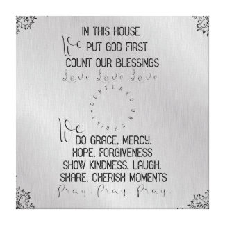 In this House, Centered on Christ Canvas Print