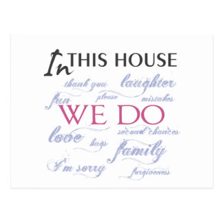 In This House We Do Love Postcard