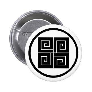 In thread wheel four lightning 2 inch round button