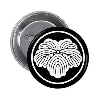 In thread wheel ivy 2 inch round button