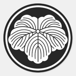 In thread wheel ivy classic round sticker
