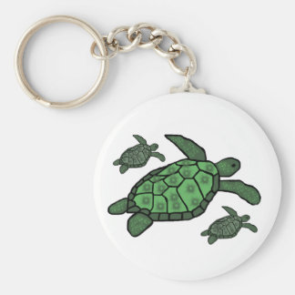 In Triple sea turtles key chain