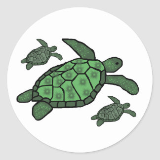 In Triple sea turtles stickers