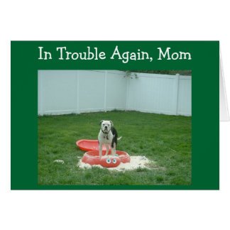 IN TROUBLE MOM ***MOTHER'S DAY*** CARD