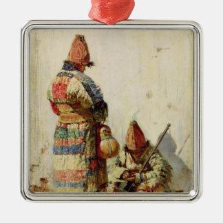 In Turkestan Silver-Colored Square Ornament