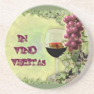 In Vino Veritas Coaster