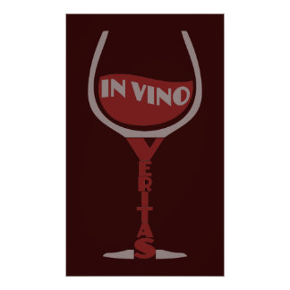In Vino Veritas custom poster