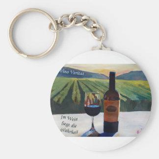 In Vino Veritas - Im Wein liegt die Wahrheit Keychain