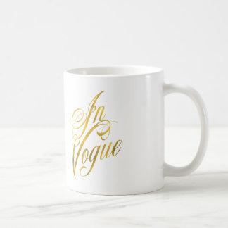 In Vogue Quote Faux Gold Foil Metallic Fashion Coffee Mug