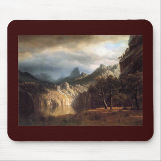 In Western Mountains by Robert Bierstadt Mouse Pad
