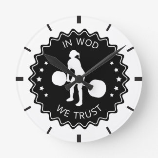 In WOD We Trust - Inspiration Clock