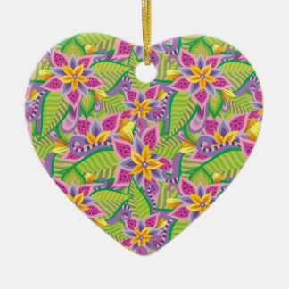 In Wonderland Ceramic Heart Ornament