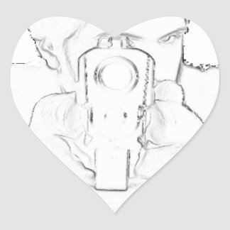 """In Your Face"" Muzzle Products Heart Sticker"