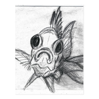 In-Your-Face Squirrelfish Postcard