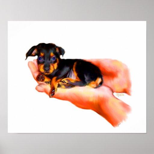 In Your Hands (Puppy) Fine Art Print