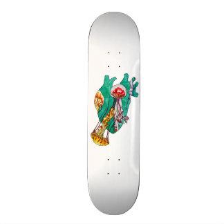 in your heart custom skate board