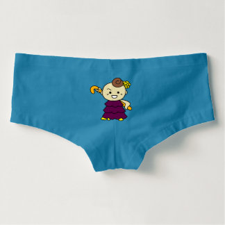 In your hip hang-up rear end stick child purple boyshorts