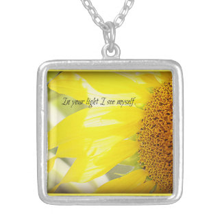 In Your Light...Sunflower Silver Plated Necklace