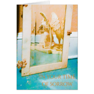 In your time of sorrow-Gods love will comfort you. Card