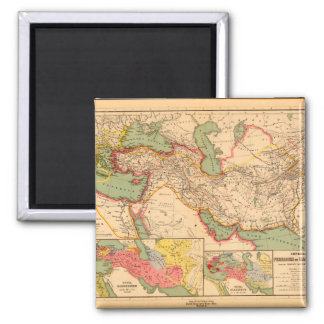 Inactive World Map 26 Square Magnet