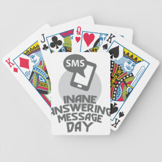 Inane Answering Message Day - Appreciation Day Bicycle Playing Cards