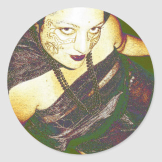 Inanna's Persuasion Classic Round Sticker