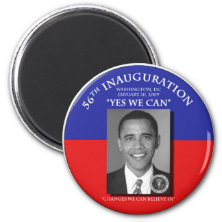 Inaugural 2009 Barack Obama Change We Can 2 Inch Round Magnet