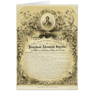 Inaugural Address of Abraham Lincoln March 4 1865 Greeting Card