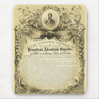 Inaugural Address of Abraham Lincoln March 4 1865 Mouse Pad