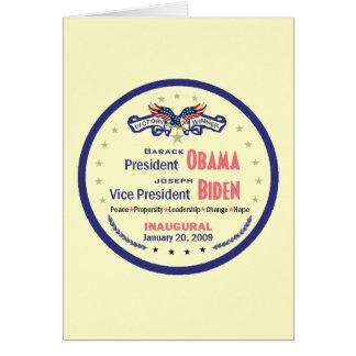 Inaugural Card
