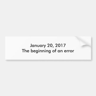 Inauguration Day 2017 Bumper Sticker