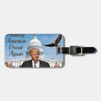 inauguration day luggage tag