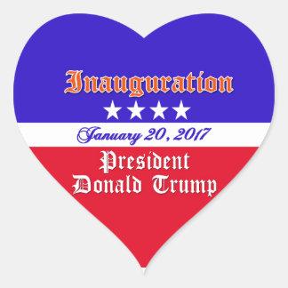 Inauguration Donald Trump January 20, 2017 Heart Sticker