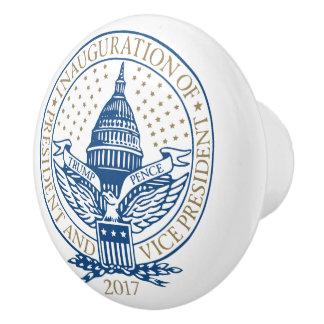 Inauguration Donald Trump Mike Pence 2017 Logo USA Ceramic Knob