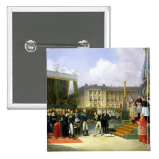 Inauguration of a Monument in Memory Louis XVI 2 Inch Square Button
