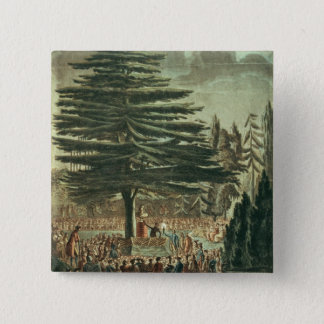 Inauguration of the bust of Carl Linnaeus 2 Inch Square Button