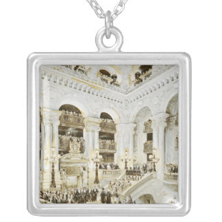 Inauguration of the Paris Opera House Silver Plated Necklace