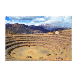 Inca Agricultural Site at Moray, Peru Canvas Print