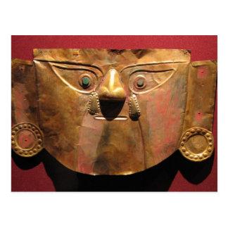 Inca gold mask, Lima, Peru Postcard