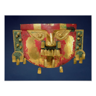 Inca mask poster