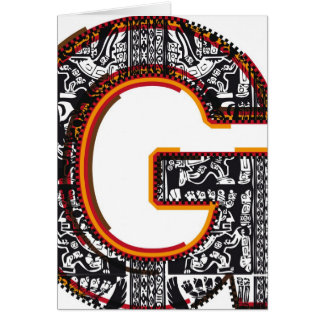 Inca`s font Letter G Card