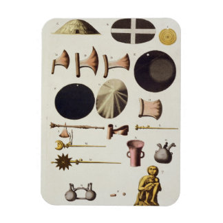 Inca tools and artefacts, Peru, from 'Le Costume A Rectangular Photo Magnet