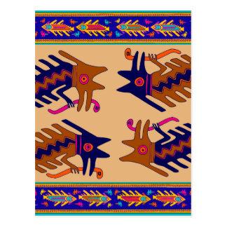Inca Tribal Serpent Postcard