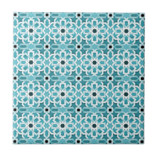 Incandescent Blue Moroccan Pattern Tile