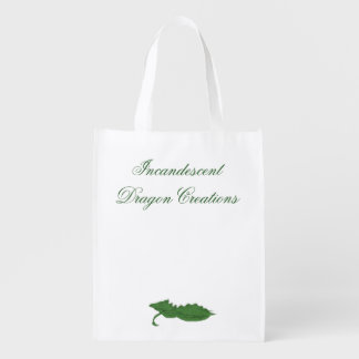 Incandescent Dragon Creations Green dragon bag 2 Grocery Bag
