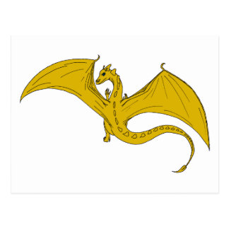Incandescent Dragon Creations  postcard - Gold